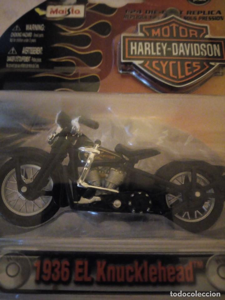 Motos a escala: harley davidson diecast 1936 el knucklehead maisto 2009,1:24 - Foto 4 - 155995662