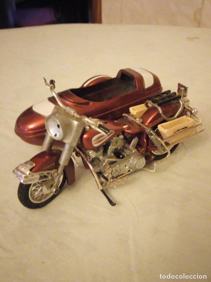 Motos a escala: Harley Davidson-Tonka/Polistil-Electra Glide Classic Diecast w S.1980,escala 1/15.made in italy - Foto 2 - 157974126
