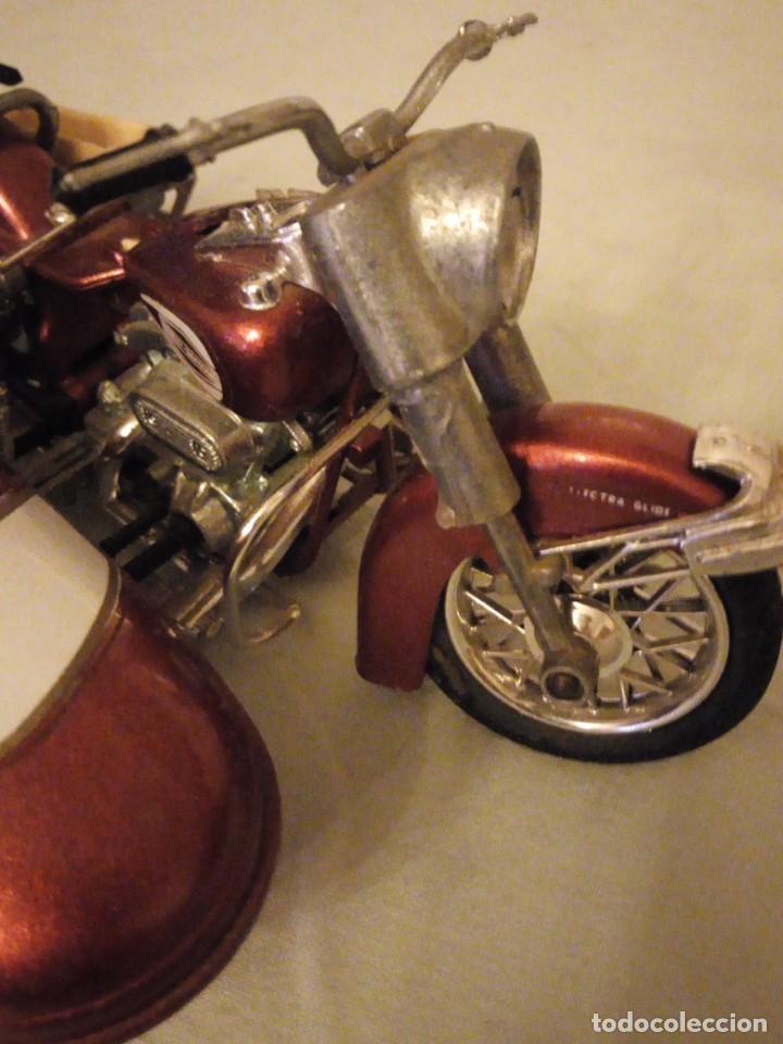 Motos a escala: Harley Davidson-Tonka/Polistil-Electra Glide Classic Diecast w S.1980,escala 1/15.made in italy - Foto 4 - 157974126