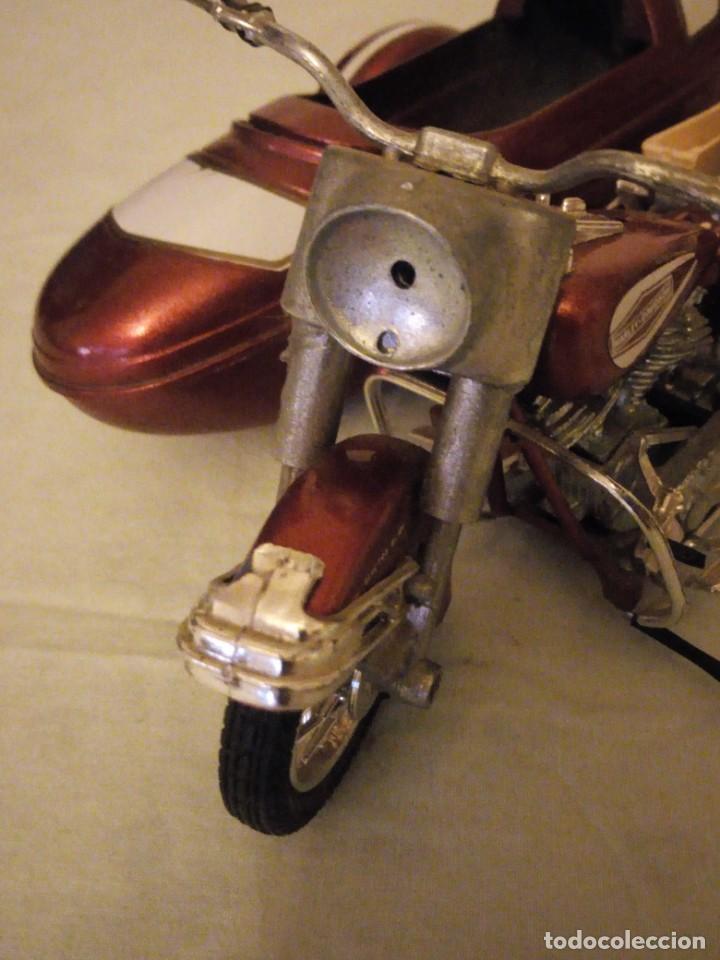 Motos a escala: Harley Davidson-Tonka/Polistil-Electra Glide Classic Diecast w S.1980,escala 1/15.made in italy - Foto 6 - 157974126