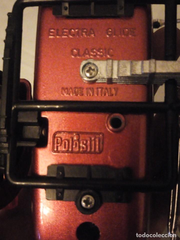 Motos a escala: Harley Davidson-Tonka/Polistil-Electra Glide Classic Diecast w S.1980,escala 1/15.made in italy - Foto 10 - 157974126