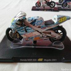 Motos a escala: HONDA NSR 500 /VALENTINO ROSSI / MUGELLO 2001. Lote 160206641