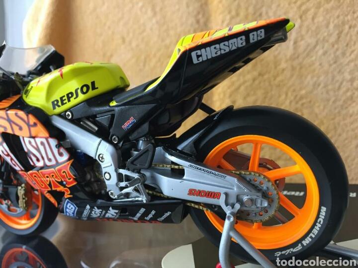 Motos a escala: MINICHAMPS Repsol Honda Team RC211V Valentino Rossi MotoGP Valencia 03 1:12 - Foto 5 - 160471901