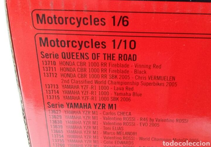 Motos a escala: GUILOY HONDA CBR 1000 RR FIREBLADE. NUEVO EN CAJA. ESCALA 1:10 REF 13711. SERIE QUEENS OF THE ROAD. - Foto 6 - 160491708