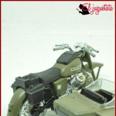 Motos a escala: MOTOCICLETA A ESCALA - GUILOY - MOTO EJERCITO MILITAR SIDECAR GUZZI 850 GT. Lote 162148966