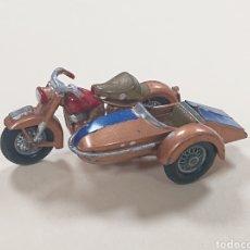 Motos a escala: MOTO HARLEY DAVIDSON CON SIDECAR DE LESNEY MATCHBOX RÉF. 66. Lote 165262632