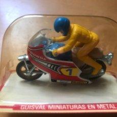 Motos a escala: ANTIGUA MOTO CARRERAS GUISVAL HONDA SIN ABRIR. Lote 165619510