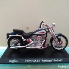 Motos a escala: MOTO 1999 FXSTS SPRINGER SOFTAIL. Lote 168054600