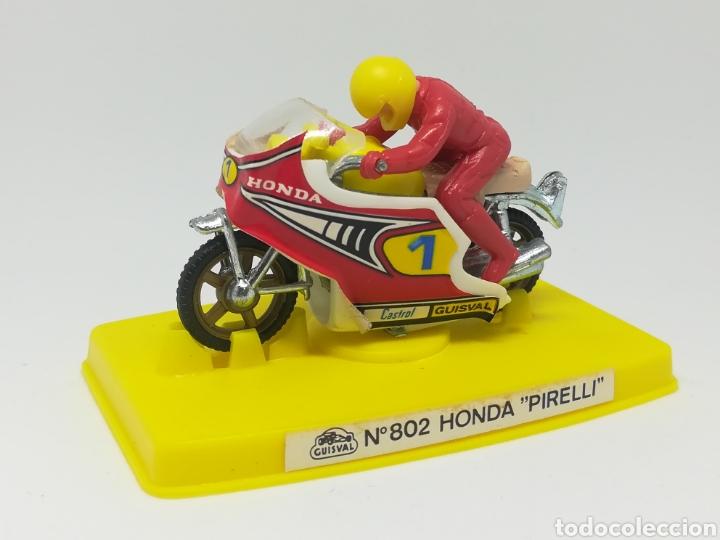 Motos a escala: Antigua moto guisval - n° 802 honda pirelli - nuevo sin uso - en caja - - Foto 2 - 168230270