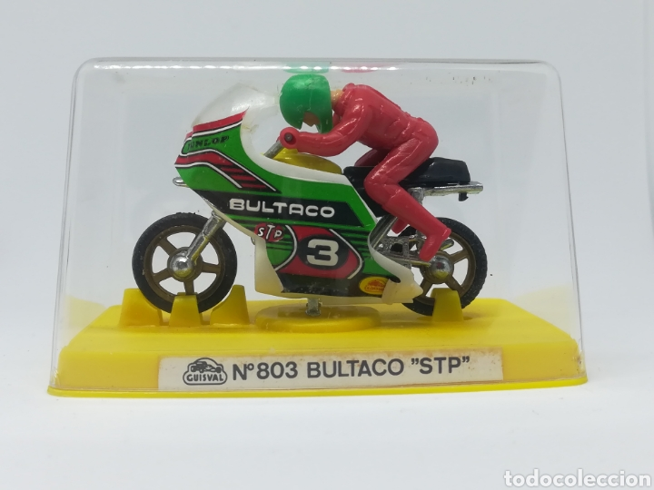 ANTIGUA MOTO GUISVAL - N° 803 BULTACO STP - EN CAJA - NUEVO SIN USO (Juguetes - Motos a Escala)