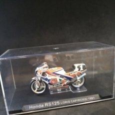 Motos a escala: MOTO HONDA RS 125 LORIS CAPIROSSI 1991. ESCALA 1:43. Lote 168851736