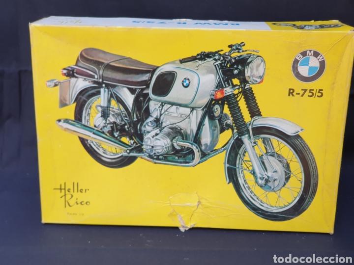 MAQUETA DE MOTO BMW R-75/5. ESCALA 1/8. HELLEE RICO AÑOS 70 (Juguetes - Motos a Escala)