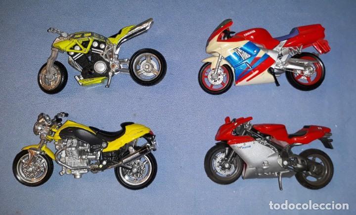 Motos a escala: LOTE DE 4 MOTOS MAISTO MAJORETTE MATTEL EN MUY BUEN ESTADO ORIGINALES VER FOTOS Y DESCRIPCION - Foto 2 - 171046825