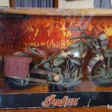 Motos a escala: MOTO INDIAN 1948 DE NEW-RAY. MOTO MILITAR NUEVA Y EN PERFECTO ESTADO. ESCALA 1/6. VER DESCRIPCION.. Lote 172093674