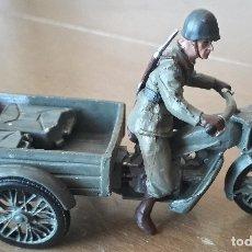 Motos à l'échelle: MILITAR MINIATURAS. SOLDADOS EN MOTOCICLETA COLECCION TROPAS VOLUNTARIOS 1937 GUERRA CIVIL ESPAÑOLA. Lote 205577475