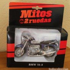 Motos a escala: MITOS DE 2 RUEDAS, BMW 75-5. WELLY MOTO A ESCALA 1/38. Lote 174116157