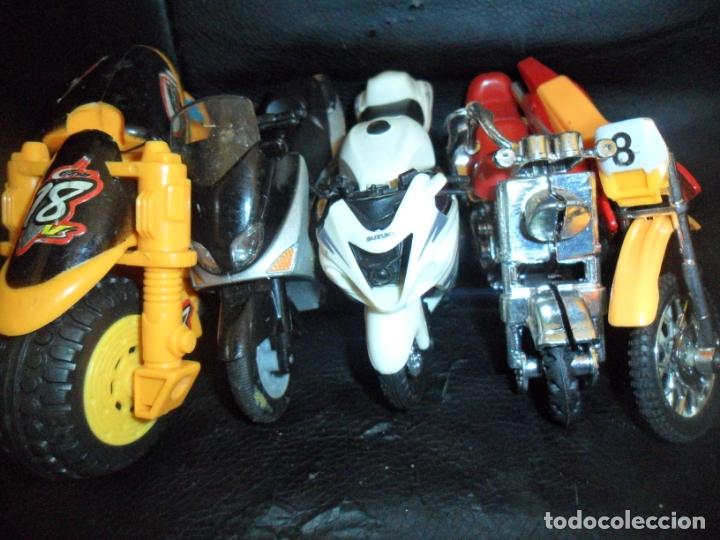 MOTOS COLECCION - LOTE DE 5 MOTOS MINIATURAS DE METAL Y PLASTICO - (Juguetes - Motos a Escala)