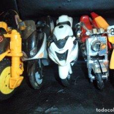 Motos a escala: MOTOS COLECCION - LOTE DE 5 MOTOS MINIATURAS DE METAL Y PLASTICO -. Lote 175606225
