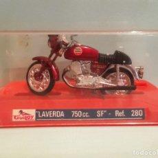 Motos a escala: LAVERDA 750CC GUILOY MOTO A ESCALA EN SU CAJA ORIGINAL. Lote 176073023
