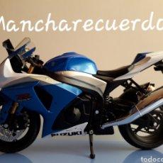 Motos a escala: MOTO MINIATURA SUZUKI GSR X NUEVA DE COLECCION ESCALA 17 X 9 CMTRS MOTOCICLETA. Lote 176503349