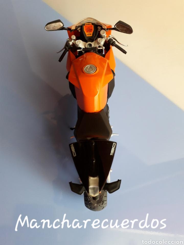 Motos a escala: MOTO MINIATURA KTM 1190 NUEVA DE COLECCION ESCALA 17 X 9 CMTRS MOTOCICLETA - Foto 6 - 176504299