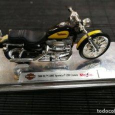 Motos a escala: MOTO HARLEY DAVIDSON 2000XL 1200 C. SPORTSTER CUSTON DE MAISTO .. Lote 177437829