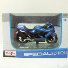 Motos a escala: MOTO KAWASAKI NINJA ZX-14R - MAISTO SPECIAL EDITION ESCALA 1:18 - DIECAST MINIATURA MOTOCICLETA. Lote 180196878