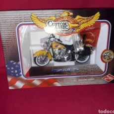 Motos a escala: MOTO AMERICANA CUSTOM HARLEY DAVIDSON YELLOW EAGLE 1:10 - GUILOY - . Lote 182700411