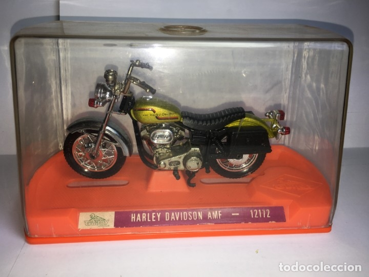 MOTO HARLEY DAVIDSON AMF REF 12172 DE GUILOY - ESCALA GRANDE (Juguetes - Motos a Escala)