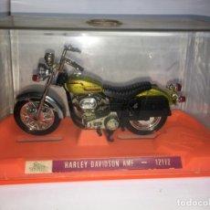 Motos a escala: MOTO HARLEY DAVIDSON AMF REF 12172 DE GUILOY - ESCALA GRANDE. Lote 183194860