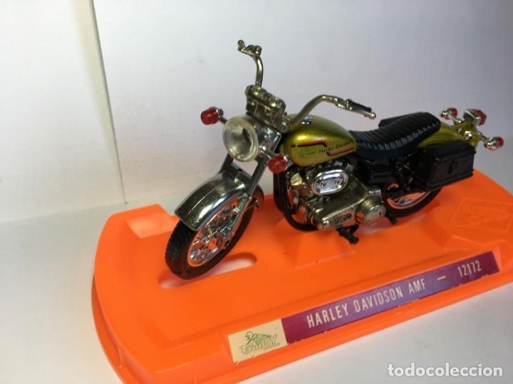 Motos a escala: MOTO HARLEY DAVIDSON AMF REF 12172 DE GUILOY - ESCALA GRANDE - Foto 4 - 183194860