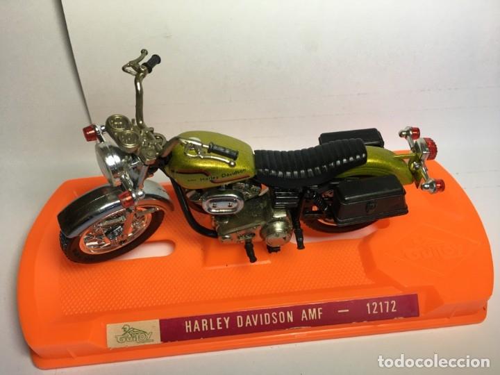 Motos a escala: MOTO HARLEY DAVIDSON AMF REF 12172 DE GUILOY - ESCALA GRANDE - Foto 5 - 183194860