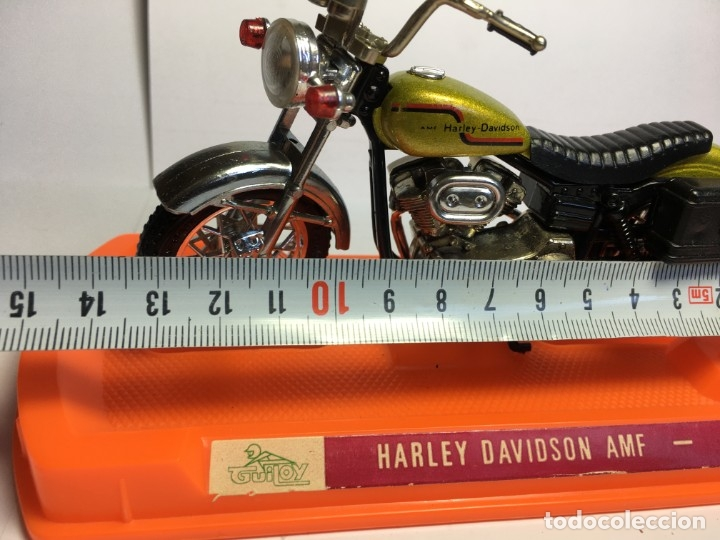 Motos a escala: MOTO HARLEY DAVIDSON AMF REF 12172 DE GUILOY - ESCALA GRANDE - Foto 9 - 183194860