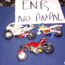 Motos in scale: LOTE 3 MOTOS PARA PIEZAS 1 GUISVAL APRILIA REPSOL LAS OTRAS DOS DESCONOZCO MARCA DUCATI Y APRILIA. Lote 185750632