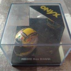 Motos a escala: CASCO ONYX HM008 MAX BIAGGI. ESCALA 1/12. FÓRMULA 1 MODELS. Lote 187181406