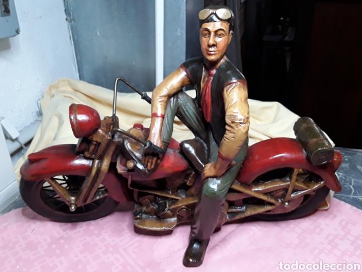 MOTORISTA CON HARLEY (Juguetes - Motos a Escala)