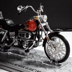 Motos a escala: -HARLEY DAVIDSON FXWG-80 WIDS GLIDEN 1980- 1/24 - ALTAYA-IXO. Lote 188832401