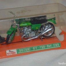 Motos a escala: GUILOY - SUZUKI GT - 750 / REF. 289 - ESCALA 1/24 - ¡MIRA FOTOS Y DETALLES!. Lote 192786052