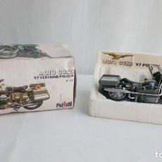 Motos a escala: MOTO GUZZI V7 - 700CC CARABINIERI DE POLISTIL. ESCALA 1/15 MADE IN ITALY.. Lote 192954011