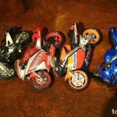 Motos a escala: LOTE DE 4 MOTOS, YAMAHA SPAINS, HONDA REPSOL, TRIUMPH 600, BMW 650. Lote 193667968