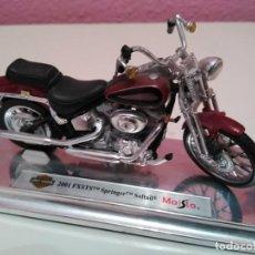 Motos a escala: MOTO HARLEY DAVIDSON 2001 FXSTS SPRINGER SOFTAIL DE MAISTO ESCALA 1/18 (1:18). Lote 194217947