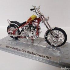 Motos a escala: HARLEY DAVIDSON FLH BILLY BIKE REPLICA 1957 ESCALA 1/24 ALTAYA. Lote 195517472