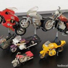 Motos a escala: GRAN LOTE MOTOS GUILOY - BMW R 100RS / HONDA GL1000 GW / YAMAHA / CHOPPER / HD - AÑOS'70. Lote 198376425