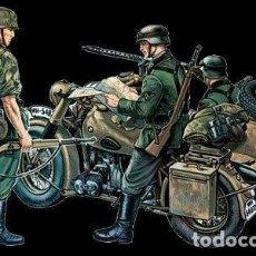 Motos a escala: DIORAMA A CONSTRUIR CON MOTO ARTILLADA Y TROPAS ALEMANAS II GM., ESCALA 1:35. A ESTRENAR.. Lote 201127398