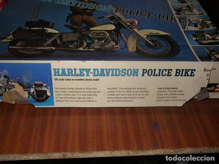 Motos a escala: Maqueta Revell, Harley Davidson Police Bike, escala 1:8. - Foto 2 - 201618390