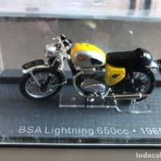 Motos a escala: MOTO BSA LIGHTNING 650CC DE 1965. Lote 202326602