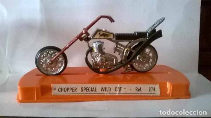 GUILOY MOTO CHOPPER SPECIAL WILD CAT (Juguetes - Motos a Escala)