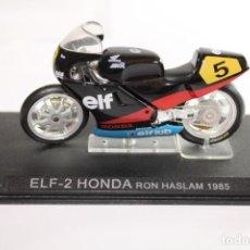 Motos a escala: ELF-2 HONDA RON HASLAM 1985. Lote 205189311