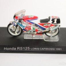 Motos in scale: HONDA RS125 LORIS CAPIROSSI 1991. Lote 205192626