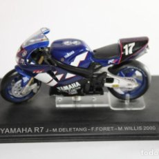 Motos in scale: YAMAHA R7 J-M.DELETANG-F.FORET-M.WILLIS 2000. Lote 205193518